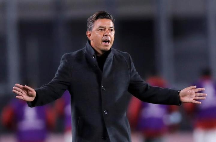 Marcelo Gallardo perfila su once de cara al 'Superclásico'. EFE