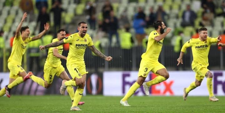 Villarreal won the Europa League after a crazy penalty shootout. EFE