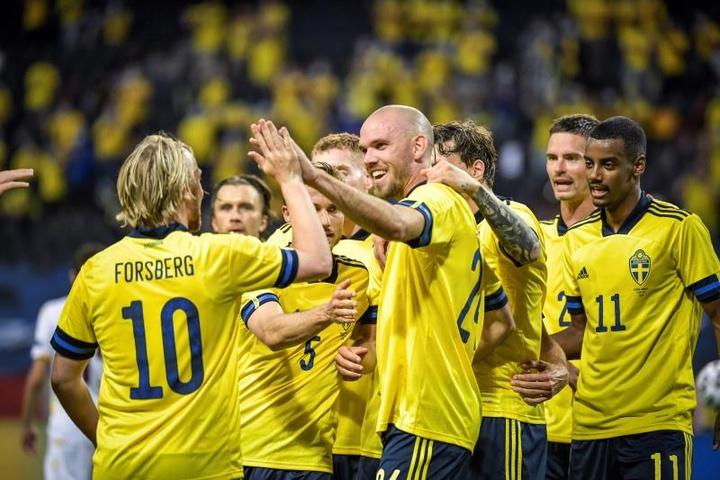 Suecia despachó a Armenia con un 3-1. EFE/EPA