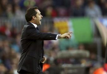 Barjuan no cerró la puerta a la posibilidad de entrenar al Barça. EFE