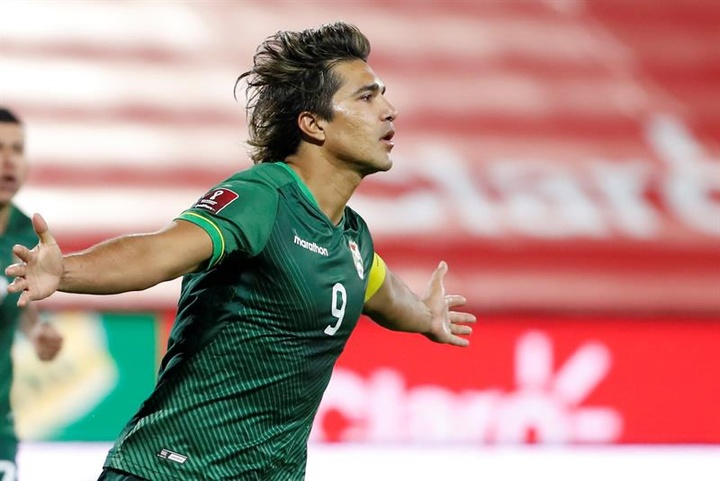 Marcelo Martins Moreno espera meter a Bolivia en el Mundial. EFE