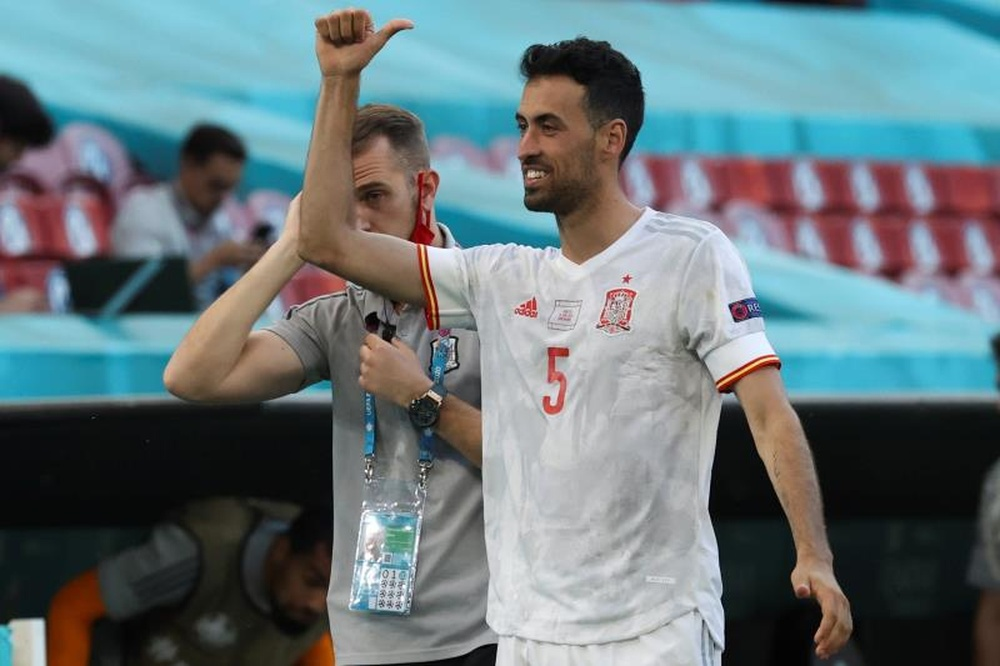 Busquets wants to lift his first trophy as Spain's captain. AFP