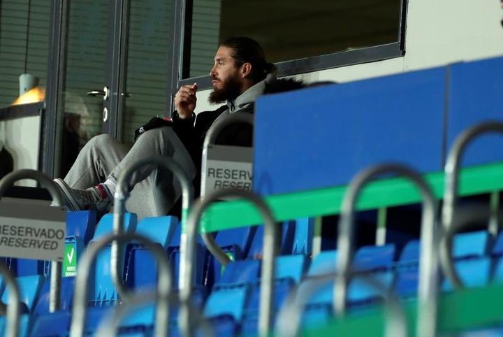 Sergio Ramos ne jouera finalement pas contre Augsbourg. efe