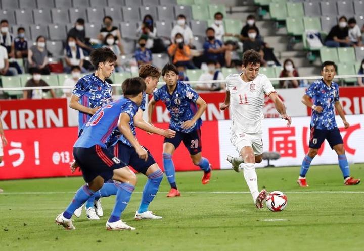 España y Japón empatan a uno. EFE