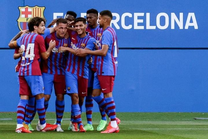 El Barça B goleó a la Fundació Grama. EFE