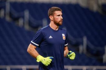 Unai Simón voltou ao Athletic.EFE
