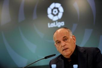 Tebas pasó revista en un webinar de fútbol portugués. EFE