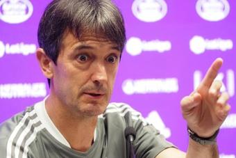 Pacheta siente que la victoria de su equipo en Gijón fue justa. EFE/Archivo