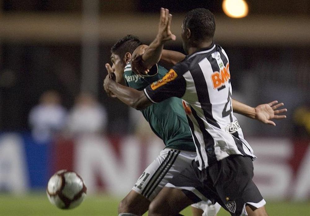 Prováveis escalações de Palmeiras e Atlético-MG. AFP