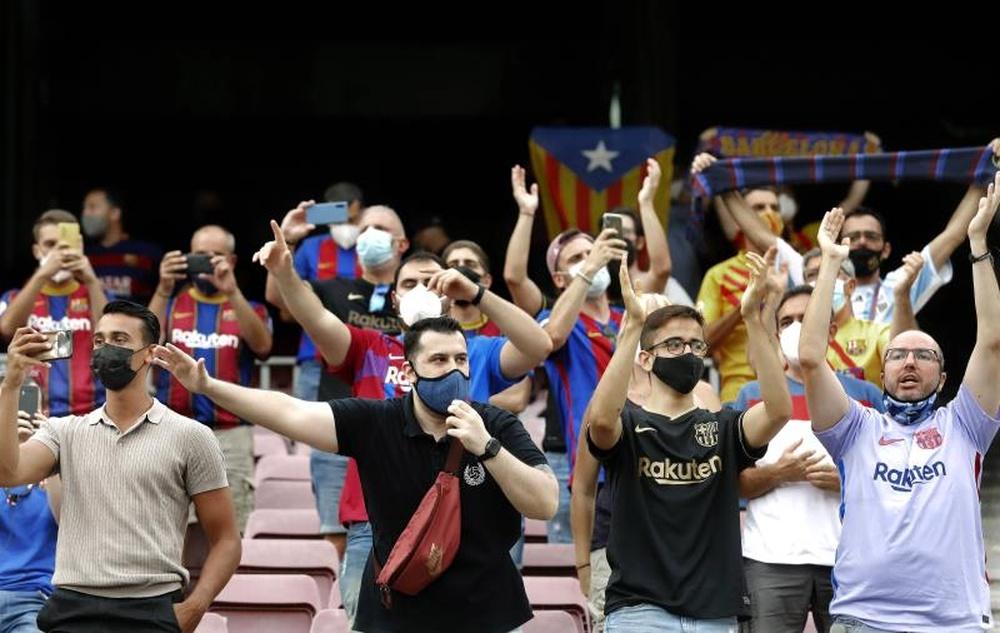 Las peñas del Barça, contra el cambio de estatutos del club. EFE/Archivo