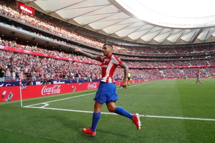 Ángel Correa, le meilleur colchonero du mois d'août. EFE