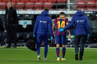 O Barça ainda deve 42 milhões de euros por Coutinho. AFP