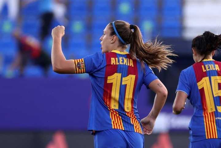 O Barça perde Alexia e Cata para o duelo contra o HB Koge. AFP