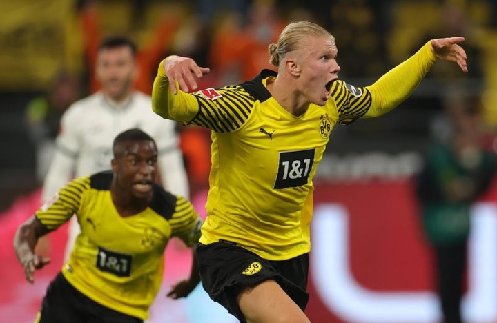 Erling Haaland marcó el tanto de la victoria en el añadido. EFE