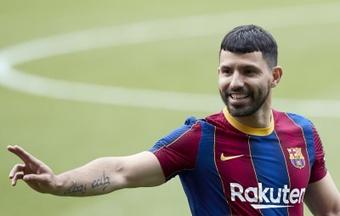 Aguero parla del Barça. EFE
