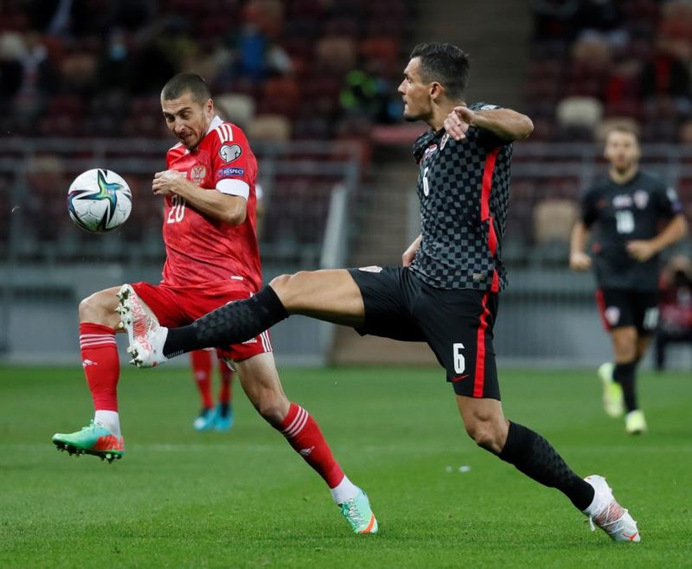 El partido ante Croacia fue el primero de Karpin al frente de la Selección Rusa. EFE