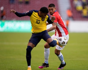 Gonzalo Plata jugó media hora en la victoria ante Paraguay. EFE