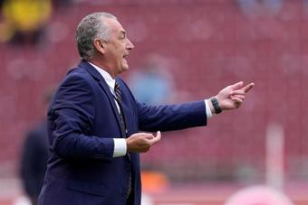 Alfaro habló tras el partido ante Colombia. EFE