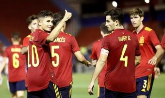 Yéremy confesó lo primero que le dijo a Gavi al verse en la Selección Española. EFE