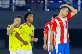 Paraguay y Colombia se repartieron los puntos. EFE