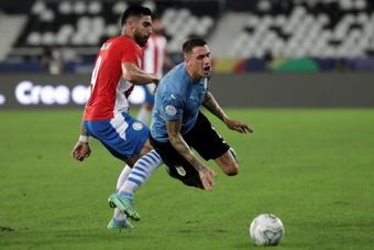 Giménez sufre una lesión en los abductores y el Atlético está preocupado. EFE