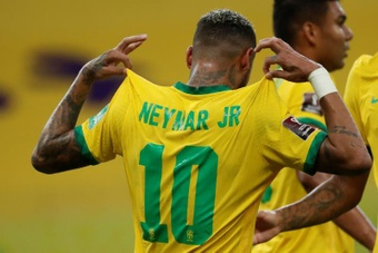 Neymar, going for another Pele record. AFP