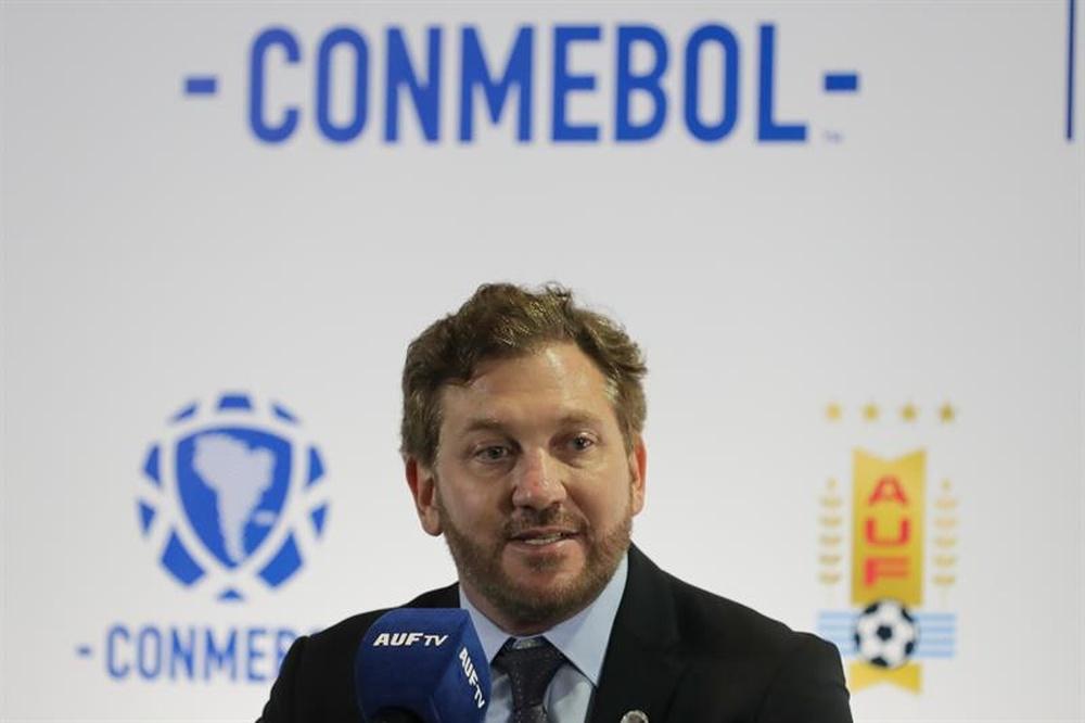 Alejandro Domínguez instó a repetir el Brasil-Argentina. EFE