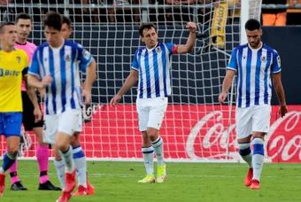 Oyarzabal volta a marcar e coloca a Real na vice-liderança de LaLiga. AFP