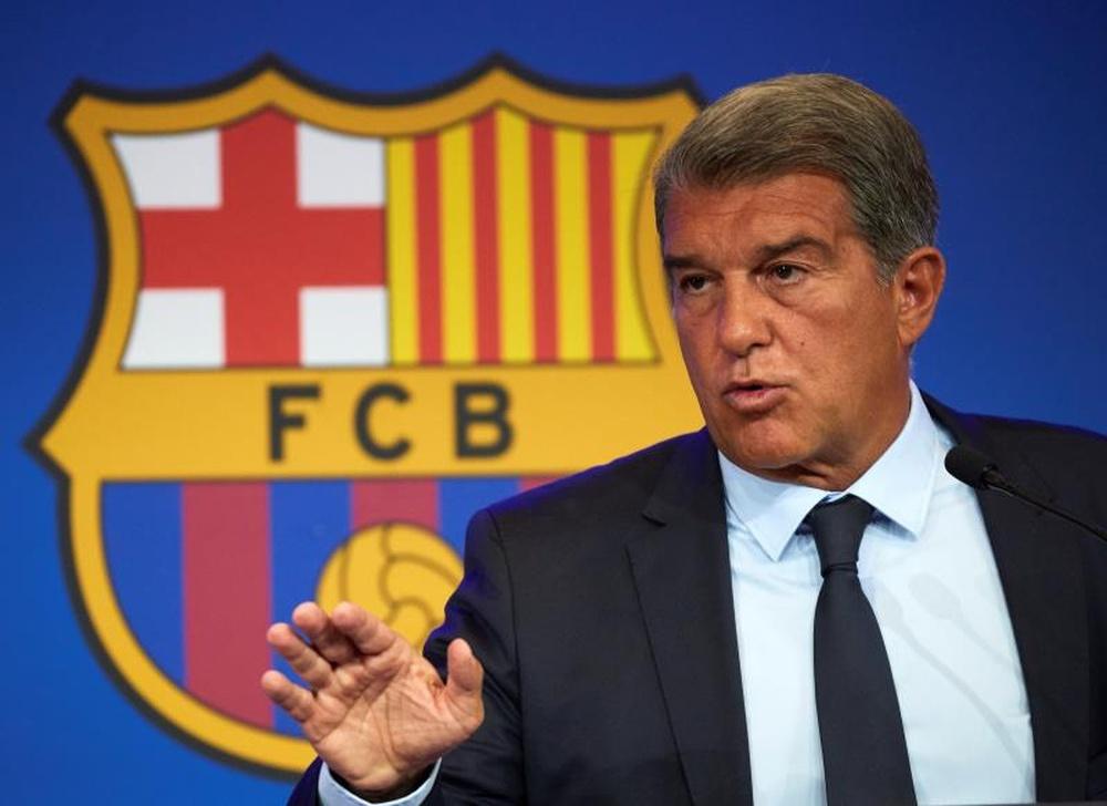 Laporta falou sobre a situação do Barcelona. EFE/Alejandro García