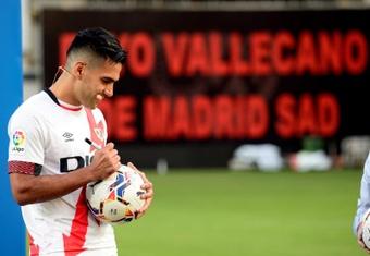 Falcao se prepara antes de los partidos para jugar. EFE