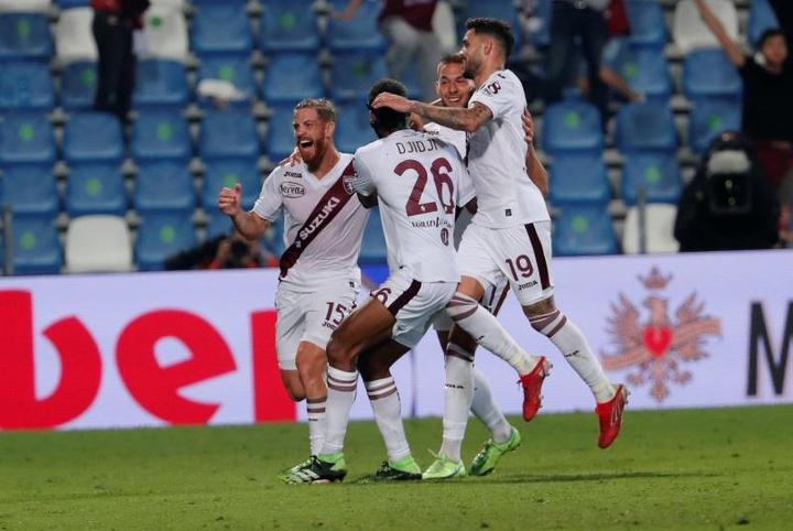 El Torino venció 0-1 al Sassuolo. EFE