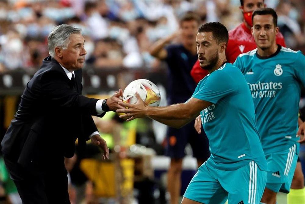 Hazard sigue sin mostrar su mejor versión en el Madrid. EFE