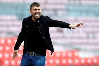 Coudet analizó la victoria ante el Levante. EFE