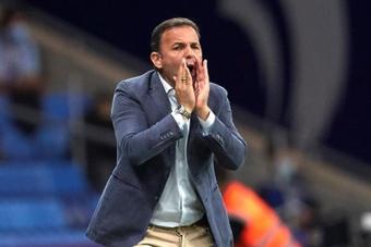 Calleja, orgulloso y eufórico tras vencer al Atlético. EFE