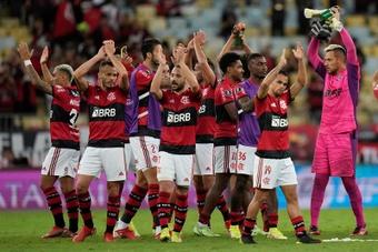 Lukaku comemora gol de Andreas Pereira.EFE