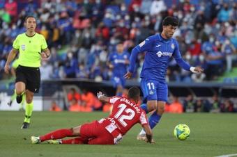 El Getafe perdió 0-3 ante el Celta. EFE