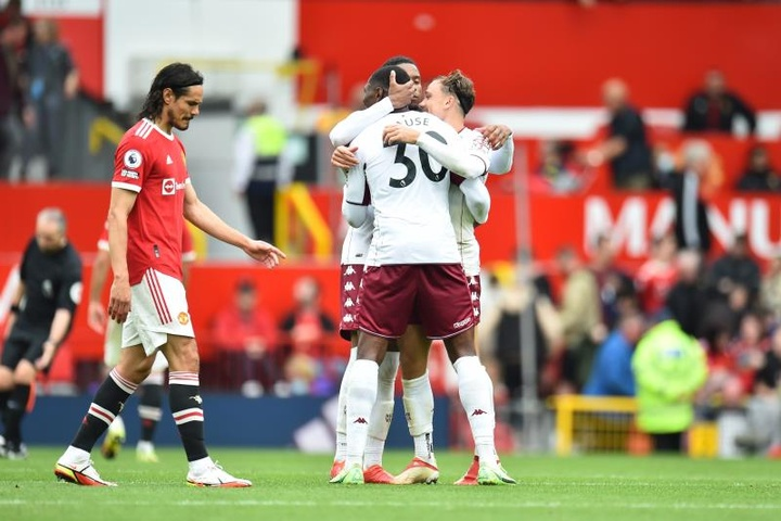 El Aston Villa doblegó al United (0-1). EFE