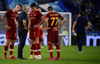 La Lazio venció 3-2 a la Roma de Mourinho en el derbi italiano. EFE