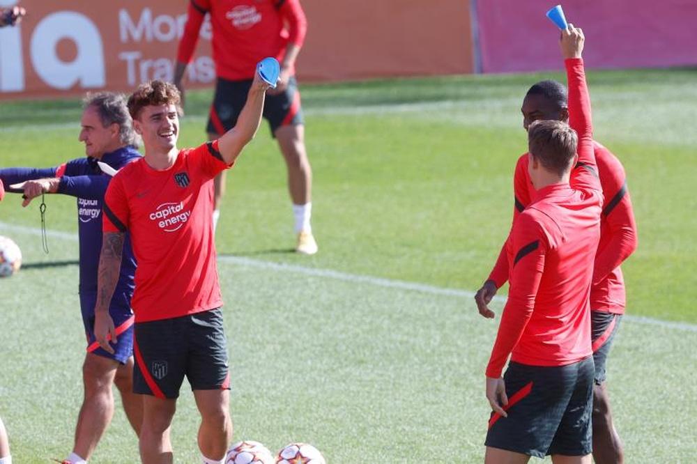 Griezmann, Carrasco et Koke de retour à l'entraînement. EFE