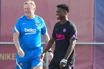 Ansu Fati wants to stay at Barça. EFE