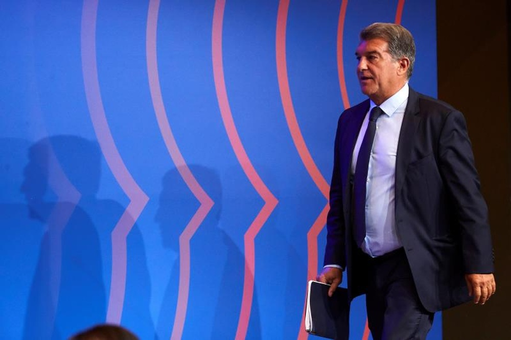 Laporta spoke before the match with Benfica. EFE