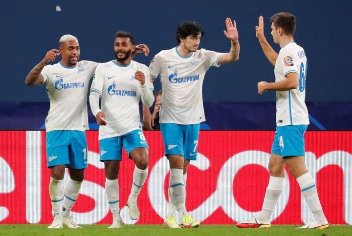 El Zenit venció 4-0 al Malmö. EFE