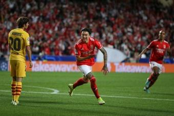 Benfica mostra ao Barça quem é que manda no Estádio da Luz. EFE/EPA/MANUEL DE ALMEIDA