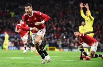 Cristiano Ronaldo délivre Manchester United contre Villarreal. EFE/EPA/Peter Powell
