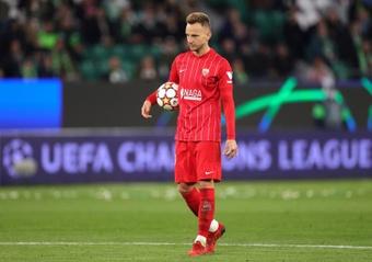 El Sevilla salvó un punto en Alemania. EFE