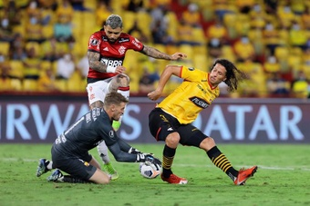 Gabriel Barbosa 'Gabi' de Flamengo. EFE