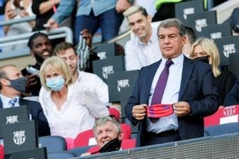 Laporta habló sobre la situación del Barça. EFE