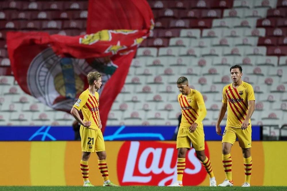 Los cinco damnificados tras la debacle en Lisboa. EFE