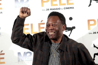 Pelé mostrou o seu otimismo. AFP