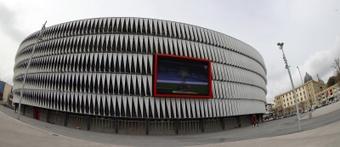 El Athletic se piensa patrocinar San Mamés. EFE/Luis Tejido